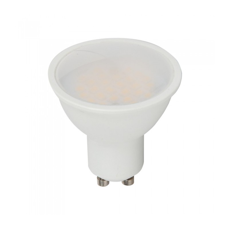 Led Spotlight Samsung Chip - GU10 5W Smooth Plastic 110`D 6400K