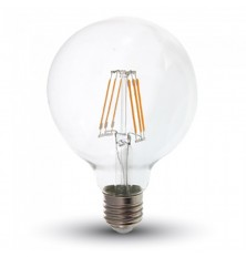 LED Bulb - Samsung Chip Filament 6W E27 G95 Clear Cover 2700K