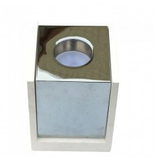 GU10 Fitting Gypsum Surface With Chrome Bottom Square