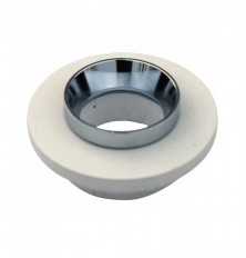 GU10 Fitting Gypsum Metal Off White Recessed Light With Chrome Round