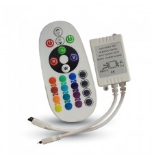 Infrared Controller with Remote Control 24 Buttons Round (RGB STRIP LED)