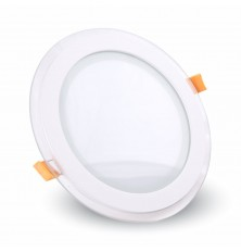 12W LED Panel Downlight Glass - Round 6400K