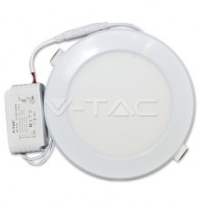 12W LED Plastic Panel Downlight - Round 3000K