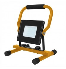 30W LED Floodlight with Stand And EU Plug Black Body 3M Cable 6400K