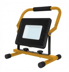 50W LED Floodlight with Stand And EU Plug Black Body 3M Cable 6400K