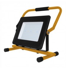 100W LED Floodlight with Stand And EU Plug Black Body 3M Cable 6400K