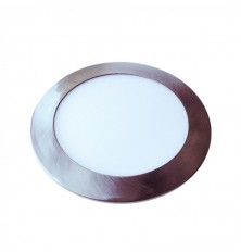 24W LED Slim Panel Light Satin Nickel Round 3000K