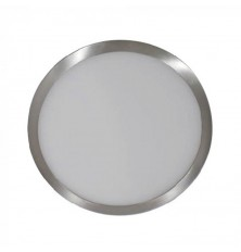 12W LED Surface Panel Light Satin Nickel Round 3000K
