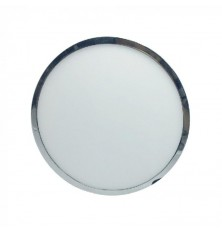 18W LED Surface Panel Light Chromel Round 6000K
