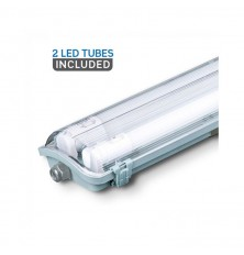 LED Waterproof Lamp PC/PC 2x1500mm 48W 6400K