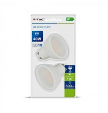 LED Spotlight - 6W GU10 Milky Cover 6400K (Blister 2 pezzi)