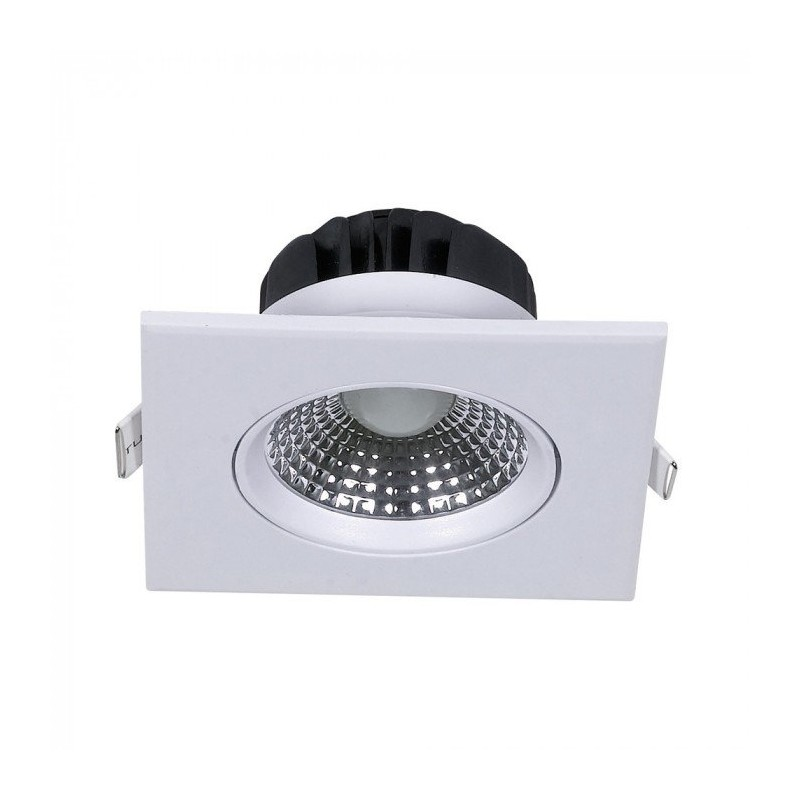 5W LED Downlight Square Changing Angle White Body 6400K