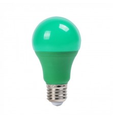 LED Bulb - 9W E27 Green Color Plastic