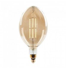LED Bulb - 8W Straight Filament E27 BF180 Amber Dimmable 2000K