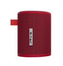 Portable Bluetooth Speaker With Micro USB And High End Cable 1500mah Battery Red
