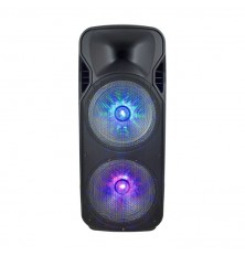 150W Rechargeable Trolley Speaker With One Wireless + One Wired Microphone RF Control RGB 2*12 inch