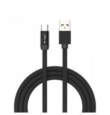 1 M Type C USB Cable Black - Ruby Series