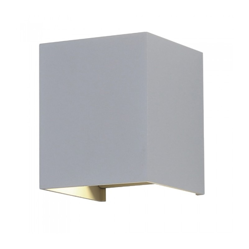 12W LED Wall Lamp With Bridgelux Chip Grey 3000K Square
