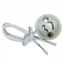 GU10 Ceramic Lamp Holder With Silicon Cable (Confezione da 5 pz)