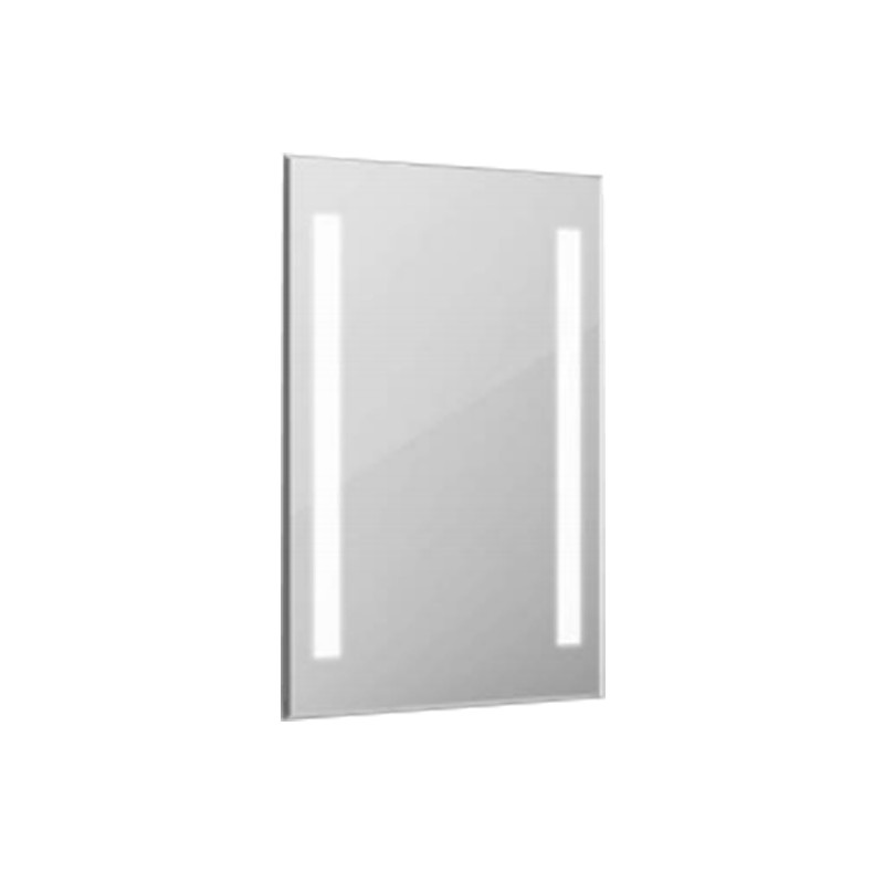 10W LED Mirror Light Rectangle Chrome With Touch Switch 700*500*35mm IP44 Anti Fog 3in1